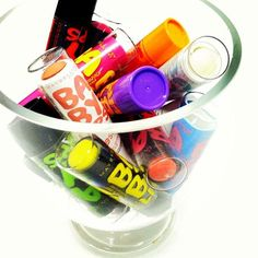 Every girl needs a giant bowl of Baby Lips at her desk.