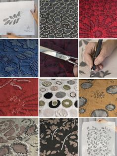Sustainable Stenciling at Alabama Chanin focuses on slow design and sustainability through reusing and recycling
