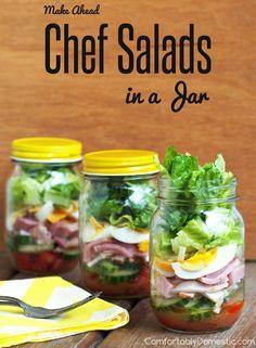 Chef-Salad-in-a-Jar-Make-Ahead   ComfortablyDomestic.com