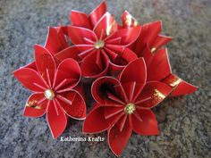 Chinese New Year or Chinese Wedding Banquet Origami Red Envelope and Money Flowers by Katherina Krafts. $45.00, via Etsy.