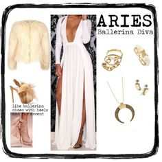 ARIES- Ballerina Diva by redcarpetlook on Polyvore featuring Alexander McQueen, Ashley Pittman, Kenneth Jay Lane, House of Harlow 1960 and Panacea