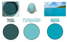 difference between turquoise, teal, aqua - Google Search