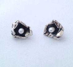 Argent Sterling 925 7 mm de culture blanc perle Stud réplique Boucles d/'oreilles