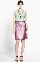 Lanvin Silk Blend Top & Pencil Skirt