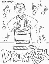 The Little Drummer Boy Clip Art Hand Drawn