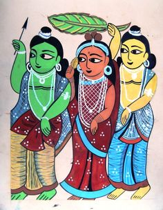 KALIGHAT - My list of the most beautiful artworks Budha Painting, Phad Painting, Madhubani Painting, Mural Painting, Fabric Painting, Dress Painting, Indian Contemporary Art, Indian Folk Art, Indian Art Paintings
