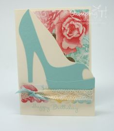 Stampin Up! Stamping T! - High Heel Shoe Card - Modified PP