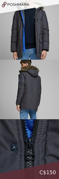 Jack and Jones Parka Winter Jacket An Originals parka with a windproof and water-repellent structure. The coat features four front pockets, a teddy lined hood along with a durable fabric. The waist is adjustable and the faux-fur at the hood is detachable. Regular fit The model is wearing a size L and is 187 cm tall Shell: 100% Polyester, Lining: 100% Polyester, Padding: 100% Polyester Imported Machine wash, do not tumble dry Jack and Jones Jackets & Coats Camo Jacket, Anorak Jacket, Sweater Jacket, Parka, Khaki Green, Full Zip Hoodie, Grey Hoodie, Faux Leather Jackets, Plus Fashion