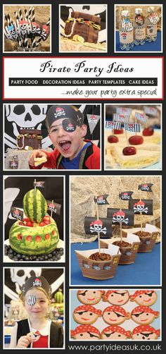 Pirate Party Ideas, Pirate party- love the straws and the watermelon cutout