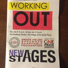 Terrific show by NEWStAGES at the Village at Ed Gould Plaza featuring performances by the seniors of our community and significant moments of being Out in their lives. These are truly heroes and survivors. One more performance. Sunday 06/06 at 6 pm. Part of One City One Pride sponsored by the City of West Hollywood. #wehoarts #lalgbtcenter #onecityonepride