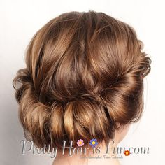 Low Rolled Updo Tutorial: Pretty Hair is Fun.com