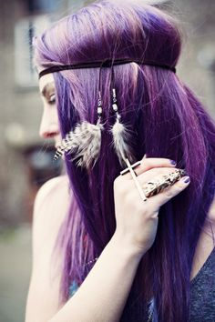 peekaboo purple highlights - Google Search