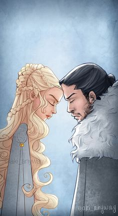 Daenerys Targaryen with Aegon Targaryen aka Jon Snow.