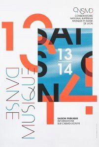 Des Signes, Conservatoire national supérieur Musique et Danse de Lyon, affiche 2013