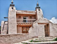 Church of San Jose de Gracia in Las Trampas, New Mexico...  beautiful, old, creaky, and special...  magically dark & creepy inside...