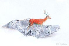 """Deer on aluminum"""