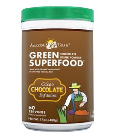 Look what I found on #zulily! Chocolate Green SuperFood Powder - 60 Servings by Amazing Grass #zulilyfinds