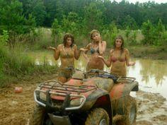 naked female dirtbike riders