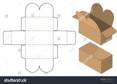 Find Box Packaging Die Cut Template Design stock images in HD and millions of other royalty-free stock photos, illustrations and vectors in the Shutterstock collection. Silhouette Projects, Silhouette Cameo, Box Packaging, Packaging Design, Paper Art, Paper Crafts, Die Cut, Diy Box, Box Design
