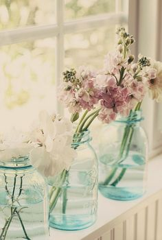 Mason jars make wonderful vases for country or garden weddings!