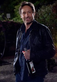 David Duchovny as Hank Moody in Californication (with a bottle of MANSINTHE!)  #absinthe