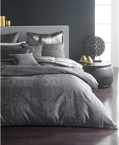 Shopping for a Cotton Duvet Cover? Find a Cotton Duvet Cover in a Bedding Set or Cotton Duvet Cover Separates when you shop at Macy's. Duvet Bedding, Grey Bedding, King Duvet, Queen Duvet, Comforter Sets, Modern Bedding, Donna Karan, Luxury Bedding Collections, Bed Sizes