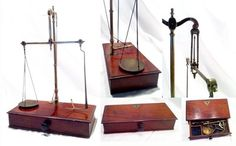 Antique British apothecary scales balance 19thC