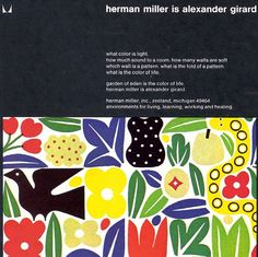 """""""herman miller is alexander girard"""" Brochure"""