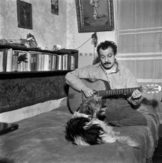 Georges Brassens-chanteur Mans Best Friend, Best Friends, French Songs, Ukulele Songs, Man And Dog, Global Citizen, Che Guevara, Musicals, Celebs