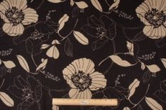 Mill Creek Swainsboro - Cliffside Printed Linen Drapery Fabric in Onyx $11.95 per yard
