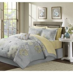 Madison Park Essentials Morrisson 9-piece Complete Bed and Sheet Set - Overstock™ Shopping - Great Deals on Madison Park Comforter Sets