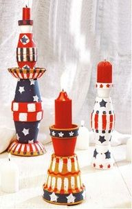 July 4th Candleholders #craft