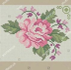 Mini Cross Stitch, Cross Stitch Rose, Cross Stitch Flowers, Cross Stitch Embroidery, Cross Stitch Patterns, Needle Tatting Tutorial, Red Brolly, Cross Stitch Freebies, Needlepoint