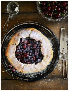 Rustic Cherry Berry Galette by Fit, fun & delish!