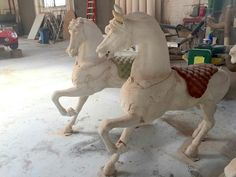 Gene Autry museum. Looff  horses