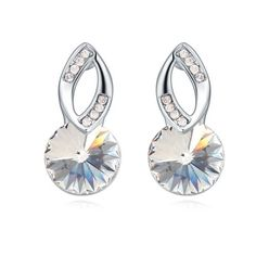 $9,1 Shiva's eye Swarovski crystal earrings - Yohanna Jewelry Wholesale.  BEST PRICE: Directly in the jewelry factory. VAT-free shopping: Available, partners based in the European Union, only applies to EU tax identification number (UID). Exclusive design SWAROVSKI crystals and AAA Zircon crystal jewelry and men's stainless steel jewelry and high-quality stainless steel jewelry for couples sell in bulk to resellers! Please contact us.