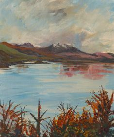 Original acrylic painting, Snow on Fuar Tholl Kyle Of Lochalsh, Days In November, Shadow And Amy, The Enchantments, The Loch, Painting Snow, Autumn Day, Beautiful Artwork, Art Decor
