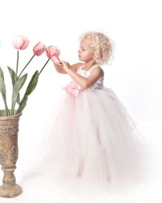Tutu Dress Flowergirl tutu dress baptism by pinkgiraffebowtique, $64.95