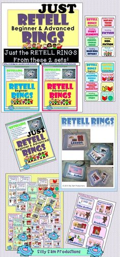 JUST RETELL RINGS Beginner and Advanced! These are JUST the rings from both the Beginner and Advanced sets of RETELL RINGS  plus Book Shares. A FUN way to practice RETELL skills individually, in groups or our favorite...PARTNERS! $ (scheduled via http://www.tailwindapp.com?utm_source=pinterest&utm_medium=twpin&utm_content=post12231158&utm_campaign=scheduler_attribution)