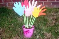 Mothers Day Craft for Kids: Bouquet of Handprints