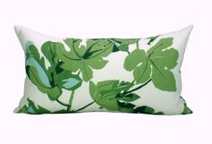 This listing is for one Fig Leaf Faded on Hemp lumbar pillow cover. DESCRIPTION  Designer: Peter Dunham  Colors: Various shades of chartreuse green,