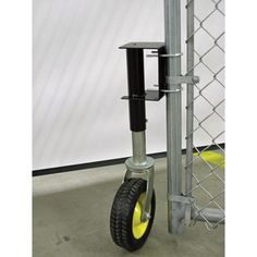 4Seasons Supply Deluxe Gate Wheel with Suspension and Flat-Free Tire — 220-Lb. Capacity, Model# GW-220FF