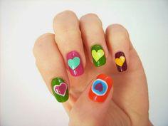 Nail art for Valentine's Day inspired by Agatha Ruiz de la Prada