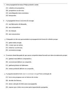 Interpretação de texto exercicios