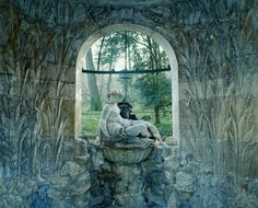 "The ""Schöner Brunnen"" (Fair Spring) ~ well house at Schonbrunn Park, Austria"