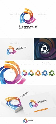 Three Cycle / Spiral -   Logo Design Template Vector #logotype Download it here: http://graphicriver.net/item/three-cycle-spiral-logo-template/10872748?s_rank=1179?ref=nexion