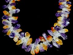 Gorgeous Amethyst and Citrine necklace!  One of a kind! by almikor on Etsy