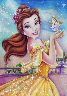 Beauty & the Beast Disney Princess Belle, Princesses Disney Belle, Princesa Disney Bella, Image Princesse Disney, Disney Princess Drawings, Princess Cartoon, Disney Princess Pictures, Disney Pictures, Disney Drawings