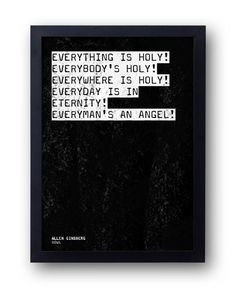 Allen Ginsberg 'Howl' Angels Quote Print – bestplayever