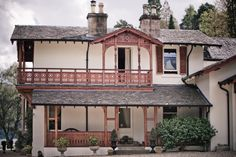 Location - Shoot - Eat - Sleep The balcony & veranda at The Lodge on Loch Goil - designed by the architect William Leiper Eat Sleep, Balcony, Mansions, House Styles, Places, Design, Home Decor, Decoration Home, Manor Houses